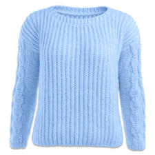 Modell 435/6, Damen Pullover aus Novata von Junghans-Wolle