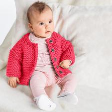 Modell 472/6, Baby-Jacke, 2-fädig aus Novata von Junghans-Wolle
