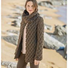 Modell 478/6, Damen Jacke mit Loop aus Puno von Katia