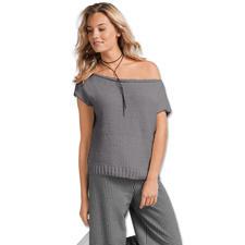 Modell 002/7, Top aus Bandana Wool von Junghans-Wolle