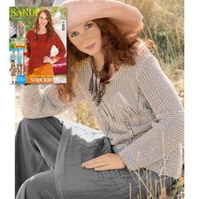 Modell 038/7, Pullover aus Bandana von Junghans-Wolle