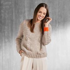 Anleitung 220/7, Damen Pullover aus Flip von Junghans-Wolle