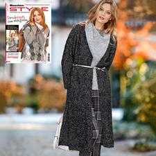 Anleitung 273/7, Mantel aus Alpaca Tweed von Schoeller+Stahl Anleitung 273/7, Mantel aus Alpaca Tweed von Schoeller+Stahl