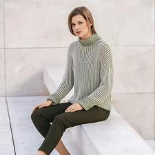 Anleitung 337/7, Pullover aus Cotton Yak von Katia