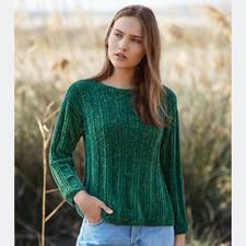 Anleitung 416/7, Pullover aus Velvet Fine von Katia