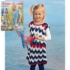 Anleitung 054/8, Kinder Kleid aus Bandana von Junghans-Wolle