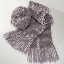 Komplettpackung Damen-Mütze und -Schal