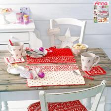 Modell 842/5, Tischsets mit Untersetzer aus Merino-Cotton von Junghans-Wolle