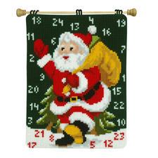 """Wandbehang """"Adventskalender Ho ho ho"""" Stickideen zur Weihnachtszeit."""