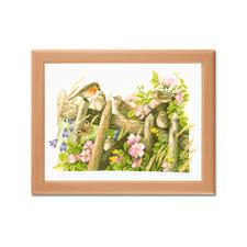 """Stickbild """"Rotkehlchen"""" Marjolein Bastin - Naturcollagen wie gemalt."""