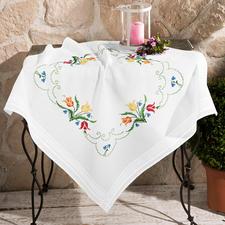 Tischdecke, 80 x 80 cm, Bunte Tulpen