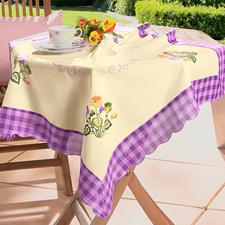 """Tischdecke """"Stiefmütterchen"""" Endlich Frühling."""