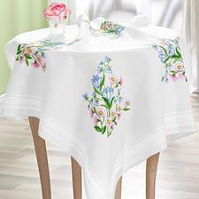 Tischdecke, 80 x 80 cm, Glockenblumen