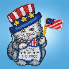 "Wandbild ""Katze mit Flagge"""