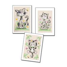 """3 Grußkarten mit Umschlägen im Set """"Katzen"""" 3 Grußkarten mit Umschlägen im Set"""