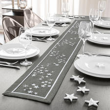 Tischband, Anthrazit-silber