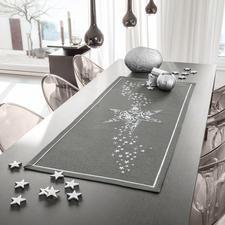 Tischläufer, Anthrazit-silber