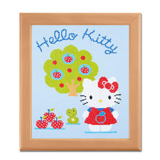 Kreuzstichbild - Hello Kitty