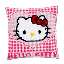 Stickkissen Hello Kitty - Herz