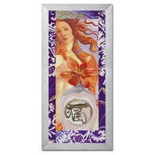 """Stickbild """"Spiegel der Seele"""" Kreuzstich auf farbig bedrucktem Aida."""