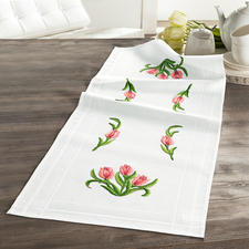 Tischläufer, 40 x 100 cm, Rosa Tulpen