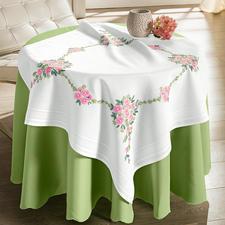 Tischdecke, 80 x 80 cm, Blumenbouquet