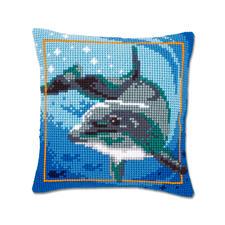 "Kreuzstichkissen ""Delfin"" Kreuzstichkissen ""Delfin"""