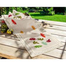 Tischläufer, bunte Herbstblätter