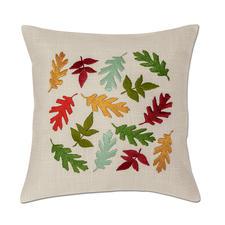 Kissen, bunte Herbstblätter