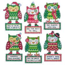 """Christbaumschmuck """"6 Eulen"""" Tierische Weihnachten."""