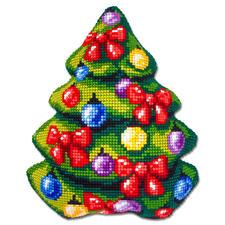 """Formkissen """"Tannenbaum"""" Fröhliche Weihnachtsmotive zum Sticken."""