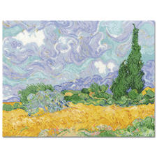 "Stickbild ""Wheatfield with Cypresses"" nach Vincent van Gogh"