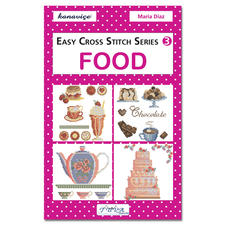 """Kreuzstich-Mustersammlung """"Lebensmittel"""". Stickbücher für Ihre eigenen kreativen Stickideen."""