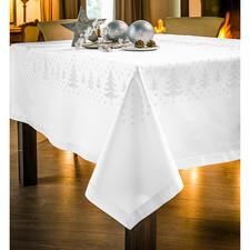 """Kreuzstich-Tischdecken """"Tannenbäume"""" Edle und dezente Stickideen zur Weihnachtszeit."""