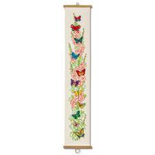"Kreuzstich-Wandbehang ""Schmetterlinge"""