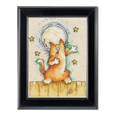 """Kreuzstichbild """"Singende Katze"""" Tierisch gut – Alles rund um die Katze."""