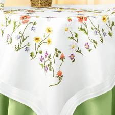 Tischdecke, 80 x 80 cm, Wildblumen