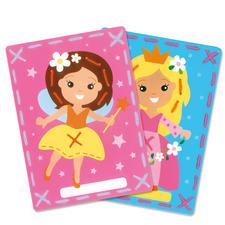 """2 Stickbilder im Set """"Fee und Prinzessin"""" Stickspaß für Kinder"""