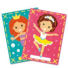 """2 Stickbilder im Set """"Meerjungfrau und Ballerina"""" Stickspaß für Kinder"""