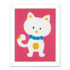 """Stickbild """"Lustiges Kätzchen"""" Stickspaß für Kinder"""