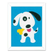 """Stickbild """"Lustiger Hund"""" Stickspaß für Kinder"""
