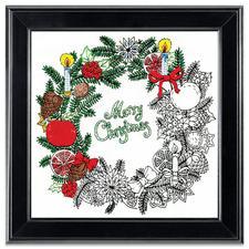 """Stickbild """"Christmas Wreath"""" Zenbroidery – Die Kunst des freien Stickens"""