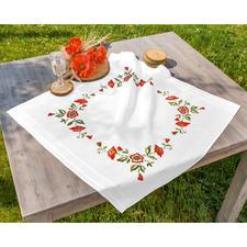 Tischdecke, 80 x 80 cm, Mohnblumen