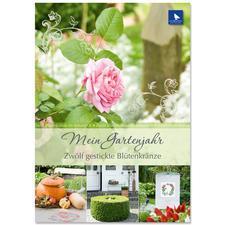 Buch - Mein Gartenjahr – Zwölf gestickte Blütenkränze Buch - Mein Gartenjahr