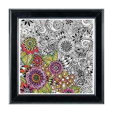 """Stickbild """"Floral"""", quadratisch Zenbroidery – Die Kunst des freien Stickens"""