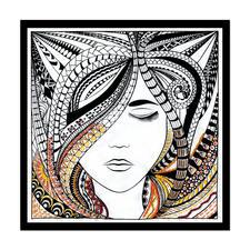 """Stickbild """"Woman"""" Zenbroidery – Die Kunst des freien Stickens"""