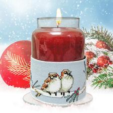 Kerzen-- Corsage Wintervögel Kreative Geschenkideen