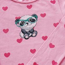 """Stickmotiv """"Panda"""" Sticken, waschen, tragen – für alle Individualisten."""