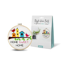 "DIY-Stickrahmen-Set ""Home"" DIY-Stickrahmen-Set ""Style dein Bild"""