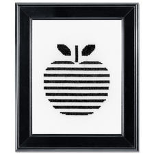 Stickbild - Apfel Modern Stitching -